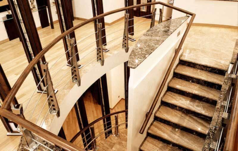 Отделка лестниц и облицовка ступеней камнем